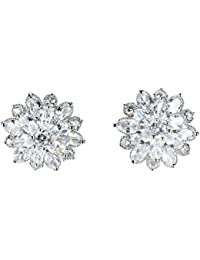Earrings Jewelry 925 Sterling Silver Earrings Flower snowflake Women Earrings White ZC Each Petal Girl Earrings Sparkling Christmas Snowflake Earrings For Her