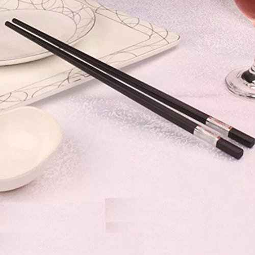 Want LEORX Stainless Steel Chinese Style Chopsticks 10 pairs (Sliver+Black) save