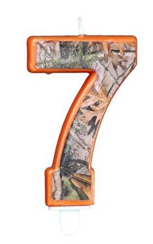 Camo Birthday Candle (Number (7) Seven) Next Camo Party Collection by Havercamp