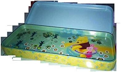 Disney Winnie The Pooh estuche portacolori de lata dos colores verde fucsia Precio Individual: Amazon.es: Oficina y papelería