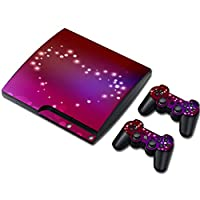 Zhhlinyuan Skin Sticker Vinyl Decal Cover for PS3 PlayStation 3 Slim+2 Controllers TN0238