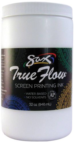 Sax 1441640 True Flow Non-Flammable Screen Printing Ink, 1-Quart, White School Specialty