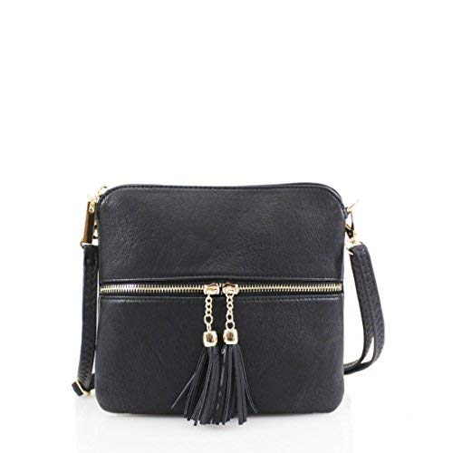 DV Fashions simili cuir petit sac à bandoulière DV6 Noir
