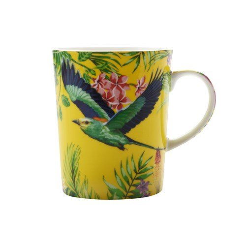 Maxwell and Williams Cashmere Birds of Paradise Mug Cup YELLOW 330ml 11.15fl oz
