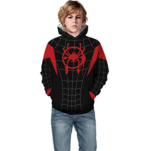 - Children Kids Spider-Man Into The Verse Miles Morales Hoodie 3D Print Sweatshirt Tops
