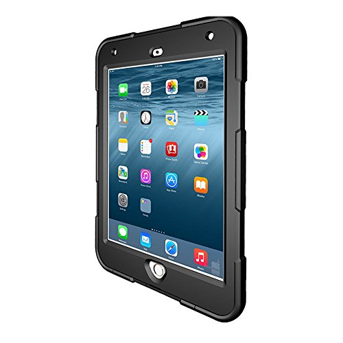 Idealforce iPad Mini4 Waterproof Case, Waterproof Snowproof Diving Swimming Shockproof Full-body Protective Case Cover for iPad Mini4 (Black) by Idealforce