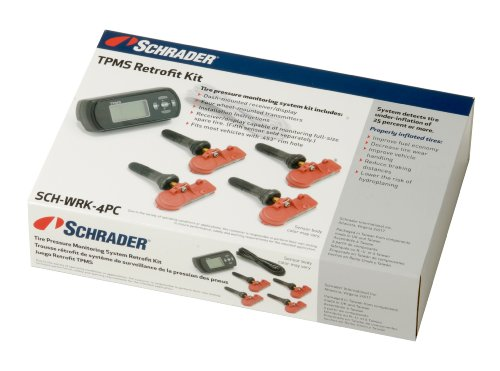 Schrader SCH-WRK-4PC TPMS Retrofit Kit for Passenger Car and Light Truck (Hard Wired Display)