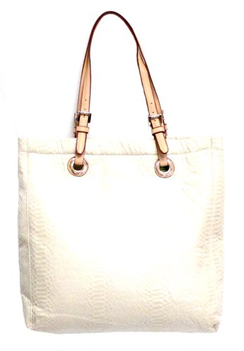 Designer Inspired N/S Large Tote (Ivory), Bags Central