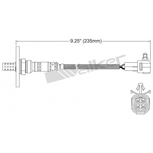 (Walker Products 250-24150 Oxygen Sensor)