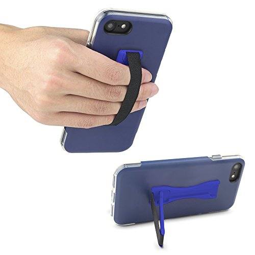Gear Beast Cell Phone Grip Stand, Universal Phone Strap Finger Holder with Pop Out Kickstand for Men and Women, Ultra Slim Pocket Friendly - Blue from Gear Beast