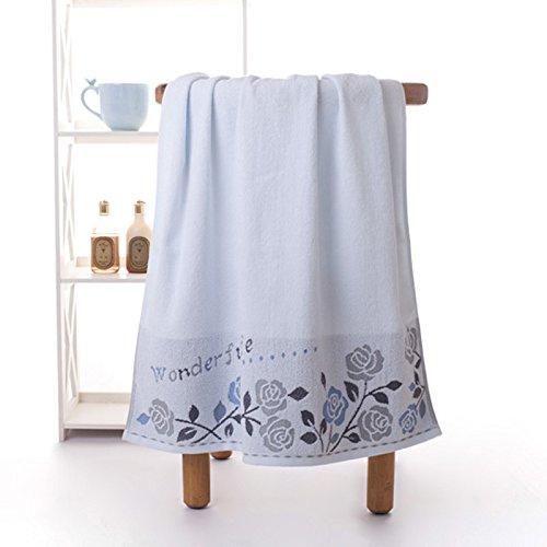 Toalla Toalla toalla gruesa Claee Bra toalla de algodón Baby Shower,Aqua Blue,70*140cm.: Amazon.es: Hogar