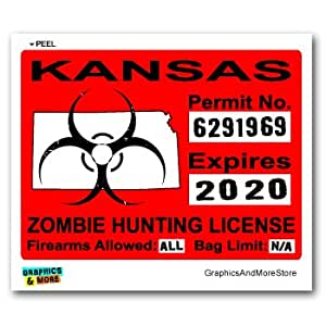 Kansas ks zombie hunting license permit red for Kansas state fishing license