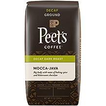 Peet's Coffee, Decaf Mocca-Java, Dark Roast, Ground Coffee, 12 oz. Bag, Decaffeinated Coffee, Well-Rounded, Complex, & Chocolaty Dark Roast Blend of Java & Ethiopian Mocca, with Sweet Hints