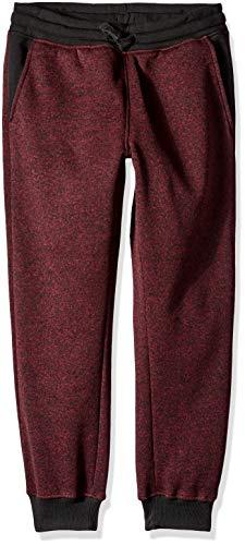 (Southpole - Kids Big Boys Active Basic Jogger Fleece Pants, Marled Burgundy Waist, Medium)