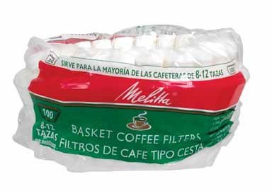 Melitta 629552 8 To 12 Cup White Basket Coffee Filters 100 Count