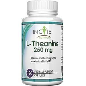 Suplemento L-Teanina de 250 mg, 120 Cápsulas (Suministro para 4 meses) - Garantía de reembolso del 100% - Alta Dosis – Los beneficios para la salud incluyen la mejora del sueño, estrés y ansiedad - Apto para veganos y vegetarianos - Fabricado en el Reino Unido