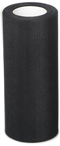 Creative Ideas 6-Inch by 25 Yards (75 Feet), White 29 Colors Available, Black