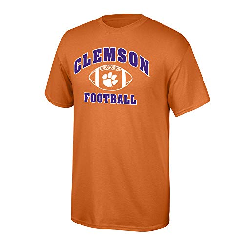 Elite Fan Shop NCAA Men's Clemson Tigers Team Color Football T-shirt Clemson Tigers Orange Large -