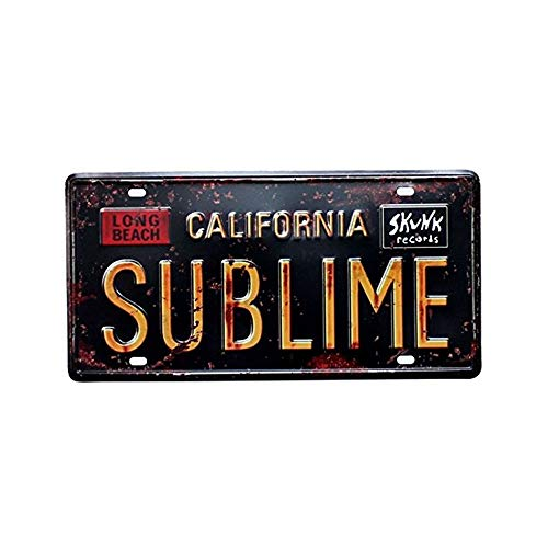 Mega-deal Long Beach California Sublime, Distressed Tin Sign Art Room Decorative Plate 15 x 30 cm / 6 x 12 inches