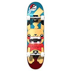 Complete Pika Skateboard This new school skateboard comes with a mellow concave allowing for a more flat-footed skating style. The edges of the board are not so bowled compared to medium and steep concaves. PIKA This is one design your defini...