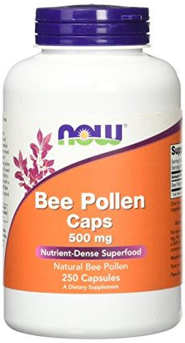 NOW Foods Bee Pollen Caps - 500 mg - 250 Capsules
