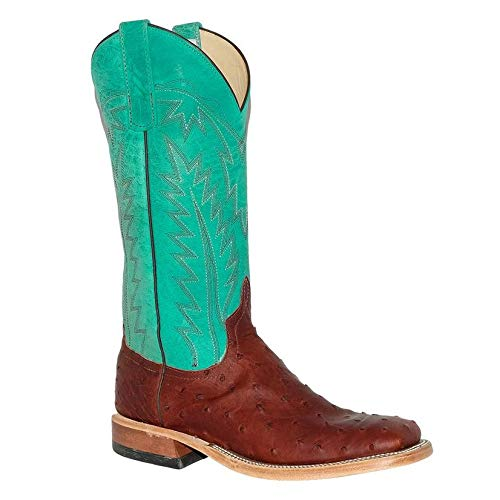 Ostrich Brandy (Anderson Bean Womens Brandy Ostrich Turquoise Boots)
