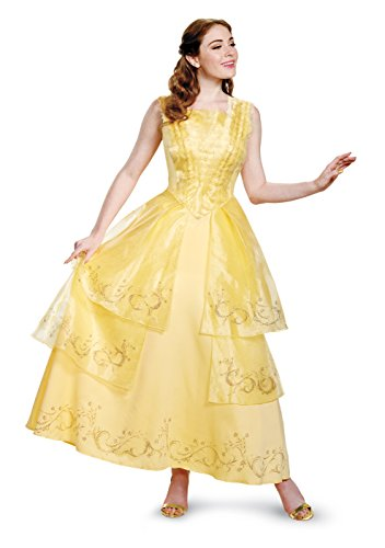 Halloween Costumes Size 20 (Disney Women's Plus Size Belle Ball Gown Prestige Adult Costume, Yellow, X-Large)