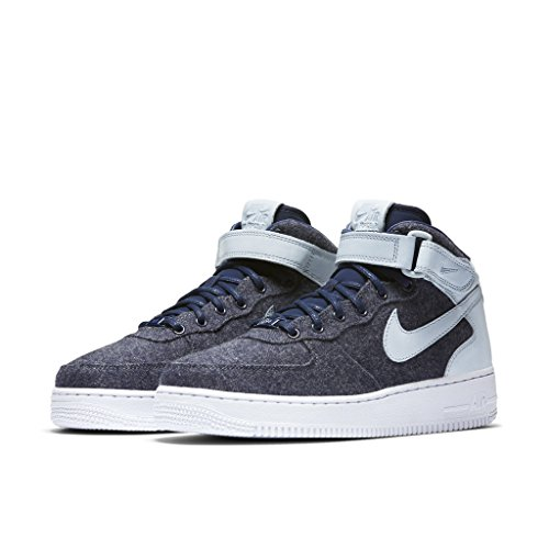 - Nike AIR FORCE 1 07 MID LTHR PRM womens basketball-shoes 857666-400_8 - MIDNIGHT NAVY/MIDNIGHT NAVY-BLUE GREY