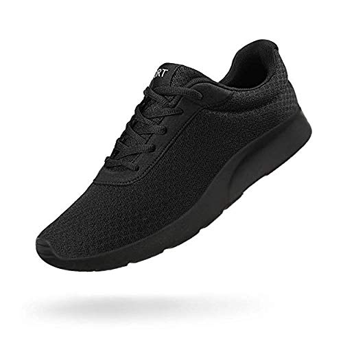 Men's Running Shoes Athletic Sneakers Casual Mesh Walking Shoes Lightweight Tennis Footwear for Men Comfortable Workout Trainer Breathable Road Running Sneakers (Black A, 13)