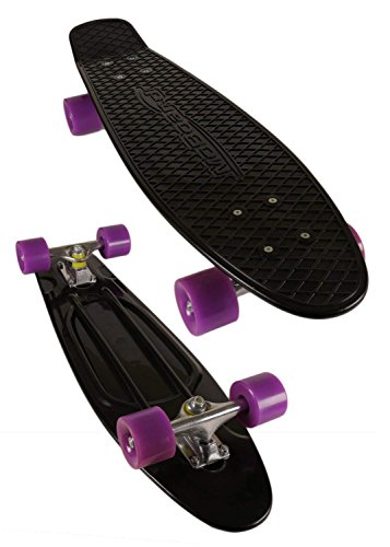 "MoBoard 27"" Graphic Complete Skateboard, Black/Purple"