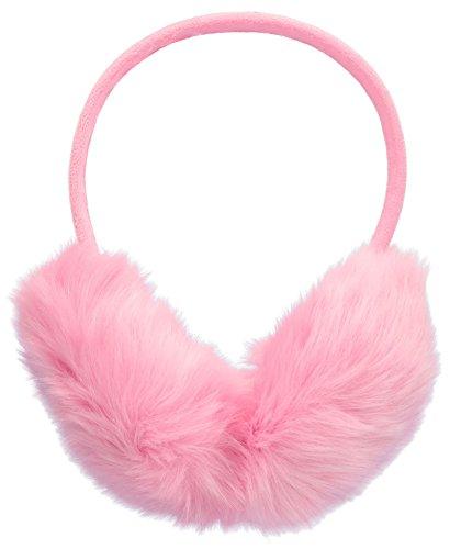 Womens Faux Furry Warm Winter Outdoors Adjustable Ear Warmers, Light Pink