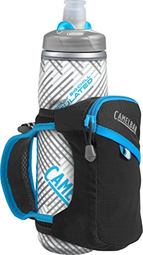 CamelBak Quick Grip Chill Handheld Water Bottle, Black/Atomic Blue, One Size ()
