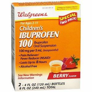100 Mg Twin Pack - Walgreens Ibuprofen 100Mg Child Berry Suspension Twin Pack, 4 fl oz
