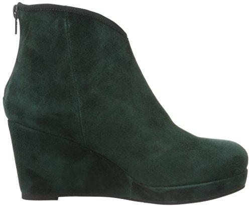 Sofie Schnoor Wedge Boot Suede, Zapatillas De Estar por Casa para Mujer Grün (Green)