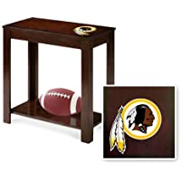 New Cappuccino / Espresso Finish End Table featuring Redskins Football Team Logo