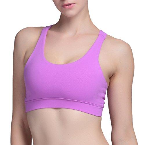 ef4ecc3e037 AIYIHAN Women s Crossback Yoga Sports Bra Crop Tops Comfort Bralette ...