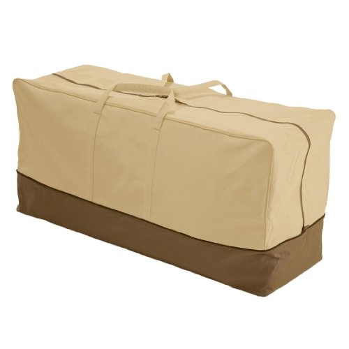 Classic Accessories 78982 Veranda Patio Cushion & Cover Storage Bag, Standard (Outdoor Storage Bench Cover)