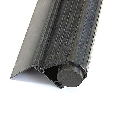 "Garage Door Super Bottom Weather Seal with Aluminum Retainer T Style Retainer: 2"", Length: 18 Foot"