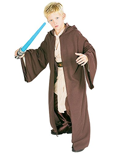 Rubie's Star Wars Classic Child's Deluxe Hooded Jedi Robe, -