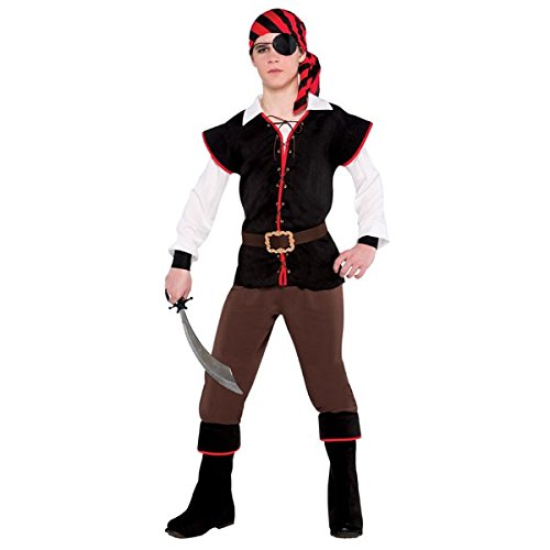 [Rebel Of The Sea Modern Pirate Party Costume, Fabric, Children's Large (12-14), 5-Piece Set] (Pirate Costumes Boot Covers)