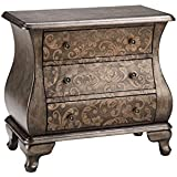 Madison Park Pewter Two Tone Scroll Bombe Chest