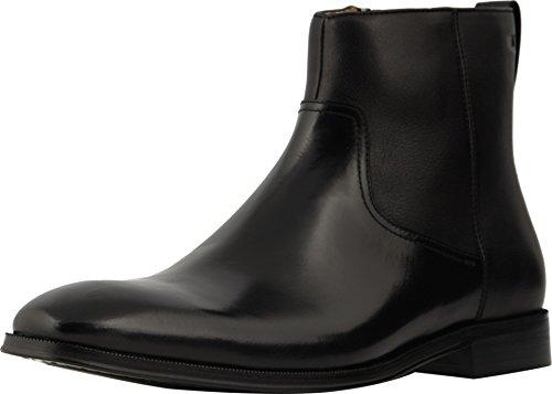 Florsheim Men's Plain Toe Side Zip Dress Boot, Black (10 EEE US)