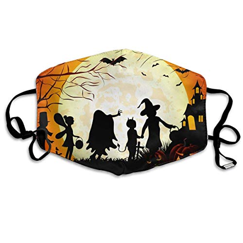 SOADV Mouth Masks Halloween Pumpkin Pattern Mouth Masks Unisex Anti-Dust Flu Washable Reusable Mouth Mask Fashion Design for Girls Women Boys Men ()
