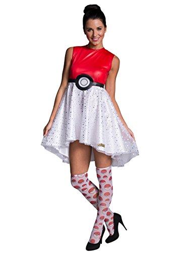 Rubie's Costume Co Women's Pokemon Pokeball Costume Dress, Multi, Large ()