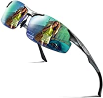 COSVER 偏光サングラス メンズ スポーツサングラス ミラー サングラス 運転 超軽量 偏光レンズ UV400 紫外線カット 運転 自転車 釣り ランニング ゴルフ