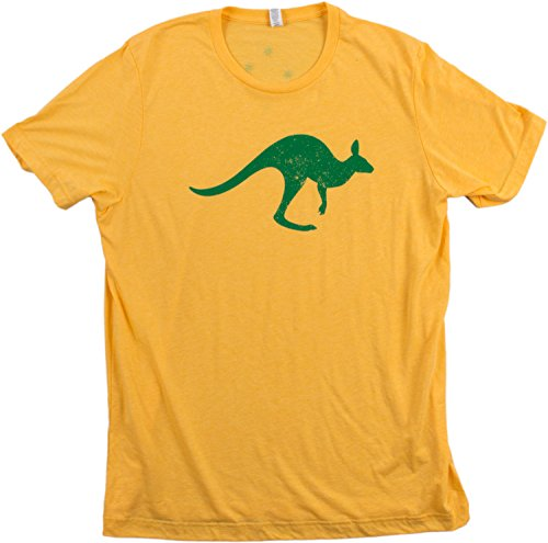 Vintage Valiant Rugby Shirt In Ultramarine Gold: Aussie Roo + Southern Cross