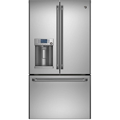 GE Cafe CFE28TSHSS 36″ 27.8 Cu. Ft. Capacity ENERGY STAR French Door Refrigerator with Hot Water Dispenser in Stainless Steel