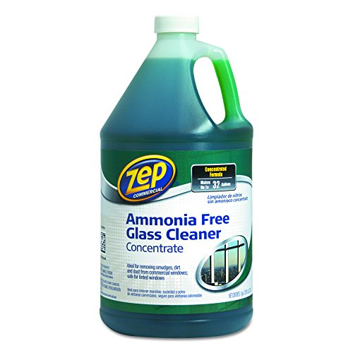 Zep Commercial ZU1052128 Ammonia Free Glass Cleaner, Agradable Scent, 1 gal Bottle (Bottle Gallon 1 Concentrate)