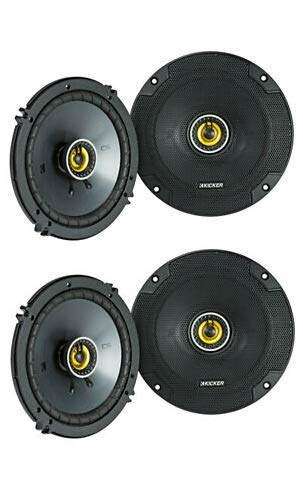 "KICKER (4) 43CSC654 CSC65 6.5"" 6-1/2"" 1200w 4-Ohm Car Audio Coaxial Speakers"