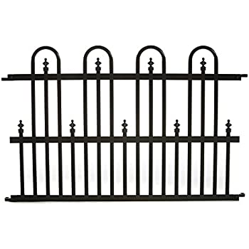 Merveilleux Specrail Roxbury ROXBURY24SP Aluminum Garden Fence Standard Panel, 24 By  36 Inch, Black